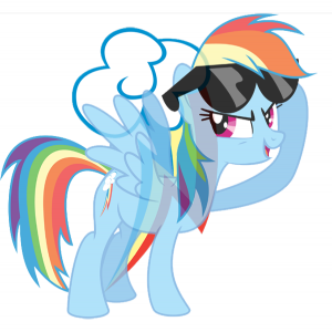 Rainbow Dash's element is Loyalty.